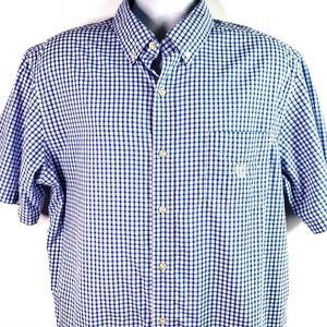 CHAPS easy care Mens shirt SS white Blue XL